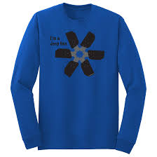 jeep shirt i u0027m a jeep fan long sleeve t shirt u2013 blue u2013 bleepinjeep store