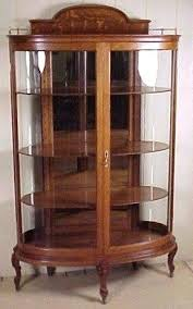 antique curio cabinet with curved glass glass china cabinet oak curio cabinets antique curved glass china