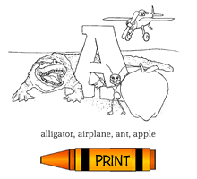 abc u0027s alphabet picture dictionary free colouring pages
