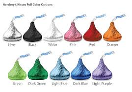db exclusive pers colored foil hershey kisses david s bridal