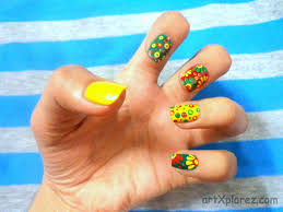 easy abstract design nail art artxplorez