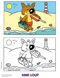 coloriage mini loup coloriages coloriage à imprimer gratuit