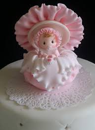 baby cake topper baby surprise box cake topper pink