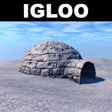3d model low poly igloo cgtrader