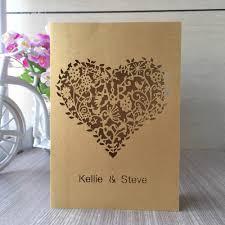 Special Invitation Cards Printable Persona 100pcs Laser Cut Love Heart Design Wedding