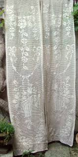 Battenburg Lace Kitchen Curtains by Curtains Endearing White Lace Voile Curtains Bright Pink And