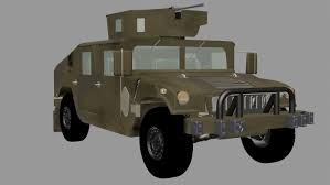military jeep humvee military jeep with a machine gun 3d model in combat 3dexport