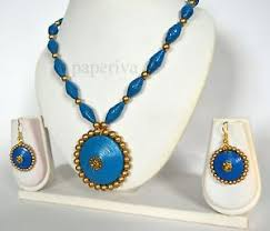 quilling earrings set classic paper quilling earrings necklace set
