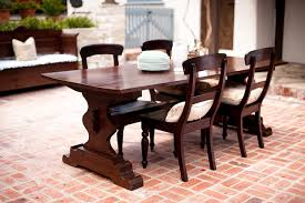 tremaine trestle table with cathleen chairs by bradshaw kirchofer