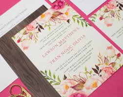 Do It Yourself Wedding Invitations Wedding Invitations Bilingual Invitations By Invitationsbytiffany