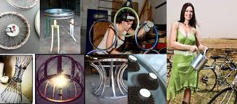 building a home decor business on recycled bicycle parts ide