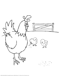 hen and coloring page coloring home