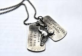 dog tag mens necklace images Steer skull mens boys rustic dog tags necklace mens necklace JPG