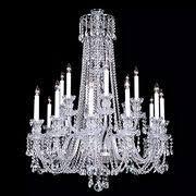 Bacarat Chandelier Long Silver Chain Glass Gold Color European Baccarat Chandelier