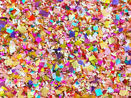 party confetti bright floral multicolored floral confetti