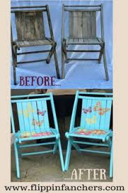 Used Folding Chairs For Sale Floral Vintage Wooden Folding Chair Painted Repurposed