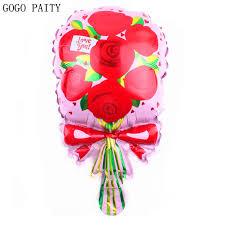 balloon wholesale gogo paity new mini flower aluminum balloon engagement wedding