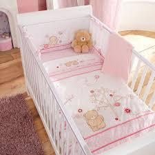 Nursery Cot Bed Sets by Baby U0026 Nursery Izziwotnot 5 Piece Bedding Set Pink
