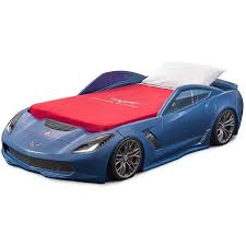 corvette blue step2 corvette z06 convertible toddler to bed with lights