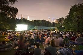 Botanic Gardens Open Air Cinema Melbourne Australia Outdoor Screenings Part Of Summer In