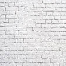 white brick wall for wall decor by print a wallpaper offering