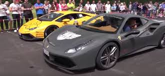 rally ferrari ferrari 488 gtb races novitec huracan during 2016 modball rally