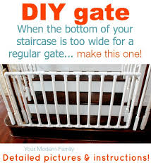 Baby Gate For Bottom Of Stairs Banisters Diy Gate For Bottom Of Wide Staircase Diy Gate Staircases And Store