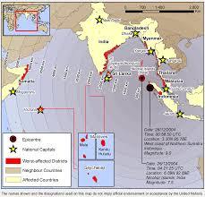 Map Of Northern India by 2004 Indian Ocean Tsunami Geogebra