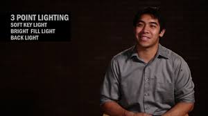 3 point lighting setup basic 3 point lighting videomaker com