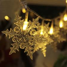 20m 200 luces de navidad new year snowflake led string lighting