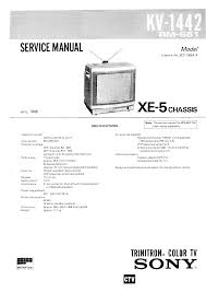 sony kv1442esp service manual immediate download