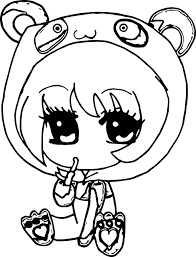 anime chibi coloring pages wecoloringpage