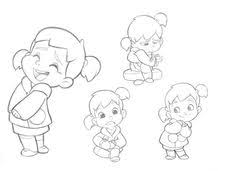little boy character sketches test for mercury filmworks by