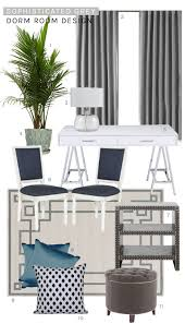 a sophisticated grey dorm room design thou swell