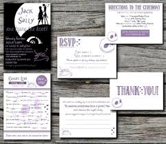 nightmare before christmas wedding invitations skellington nightmare before christmas wedding invitation set