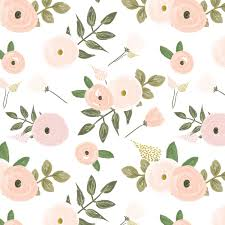 sweet candy floral pink and blush hand painted flowers