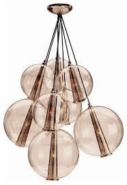 Gold Glass Chandelier Interior Design Trend Rose Gold Finish Black Dog Design Blog