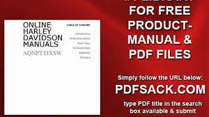 online harley davidson manuals video dailymotion