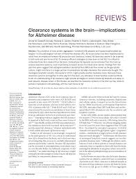 lexus of barrie reviews clearance systems in the brain implications for alzheimer disease