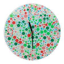 Color Blind Plate Test Color Blind Clock Color Blind Clock Wall Art Home Decor