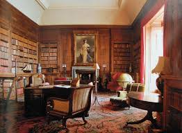 library at dunrobin castle sutherland scotland uk library