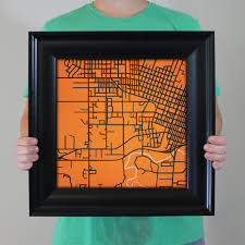 Oregon State Campus Map by Oregon State University Campus Map Art City Prints