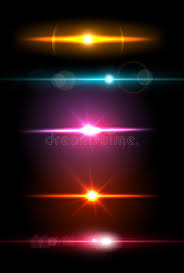 Light Glare Realistic Light Glare Sparkle Highlight Set Collection Of