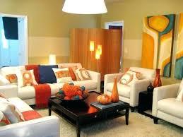 blue and orange decor red and orange living room living room color scheme palette ideas