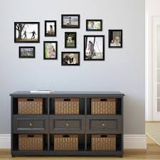 Wall Picture Frames by Traditional Black Wood Frame Set Set Of 10 Walmart Com