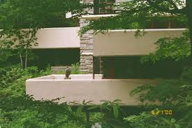 fallingwater pictures view of western half of house showing