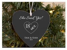 she said yes ornament personalized ornament for to be