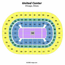 United Center Floor Plan United Center Center Stage Seating Chart United Center Center