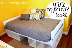How To Build A Cal King Platform Bed Frame by Diy Platform Bed With Storage Diy Platform Beauteous Diy Platform
