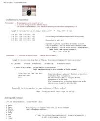 permutation and combination worksheet worksheets